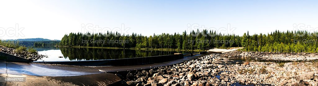Dammed River stock photo