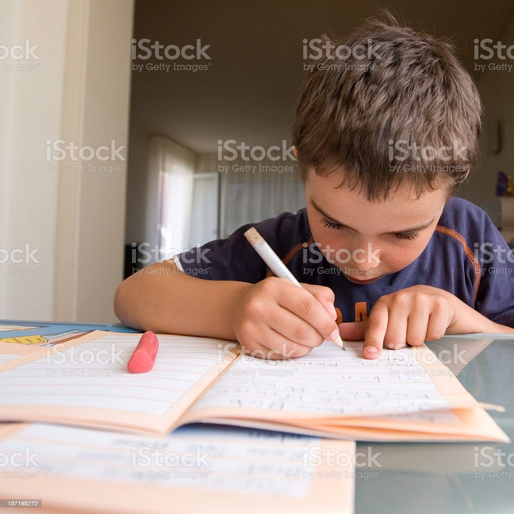 damn, this is really ALOT of homework today... royalty-free stock photo