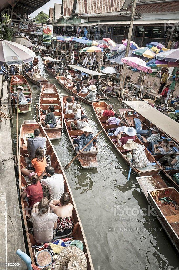 Damnoen Saduak Floating Market In Thailand royalty-free stock photo