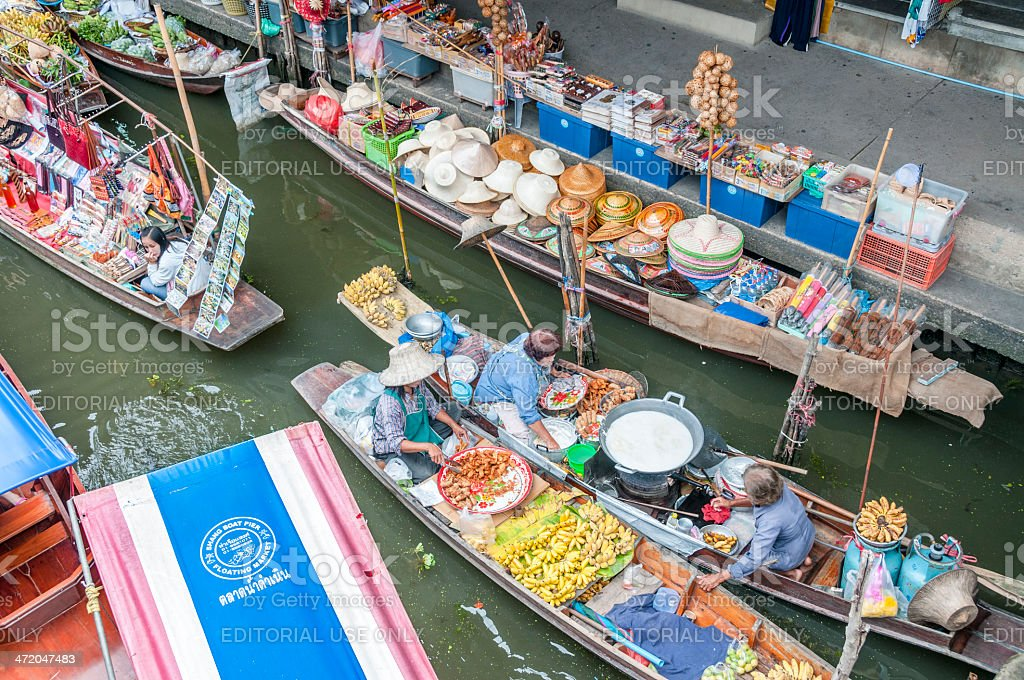 Damnoen Saduak Floating Market In Thailand royalty-free stock photo