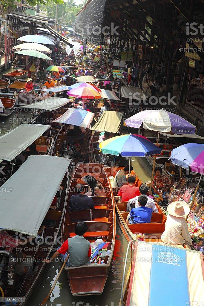 Damnoen Saduak Floating Market royalty-free stock photo