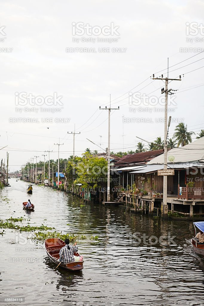 Damnoen Saduak Floating Market royalty-free stock photo