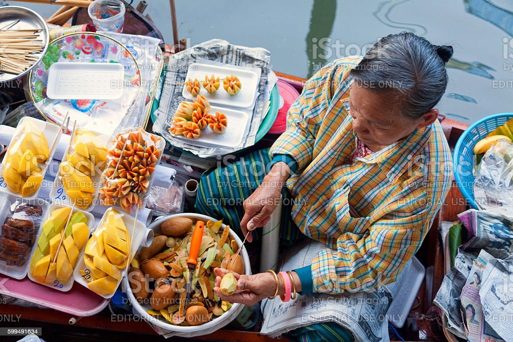 Damnoen Saduak Floating Market stock photo