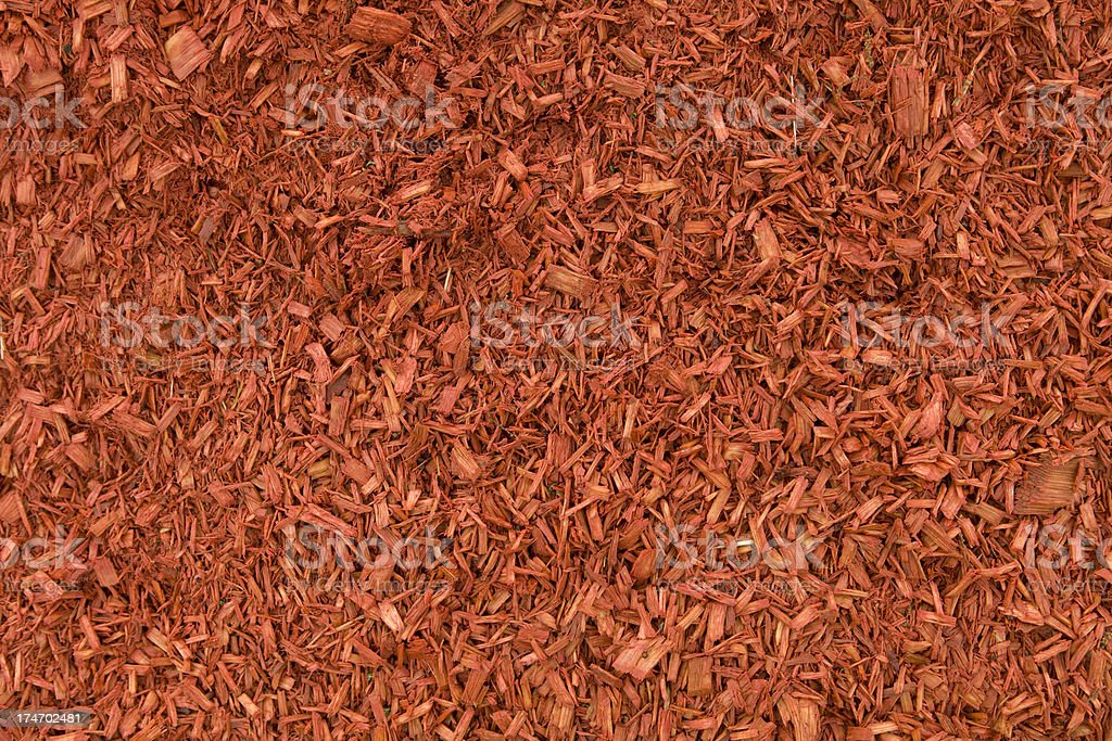 Damp Red Mulch Background royalty-free stock photo