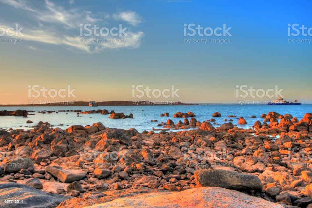 Dampier coastline in Pilbara region, Australia stock photo