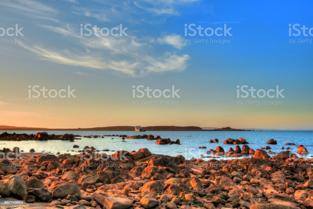 Dampier coastline in Pilbara region, Australia stock photo
