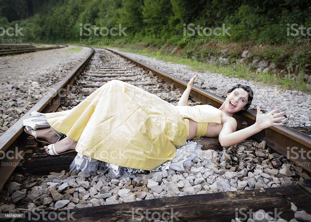 Damsel in Distress royalty-free stock photo