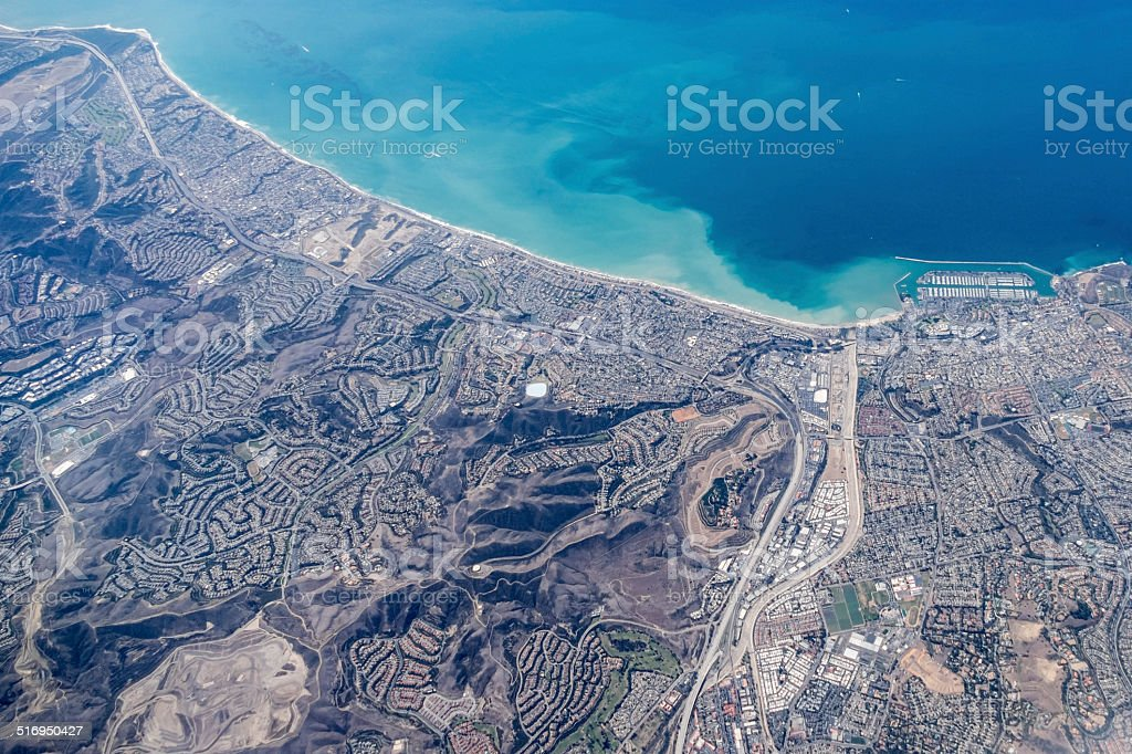 Dana Point California Aerial stock photo