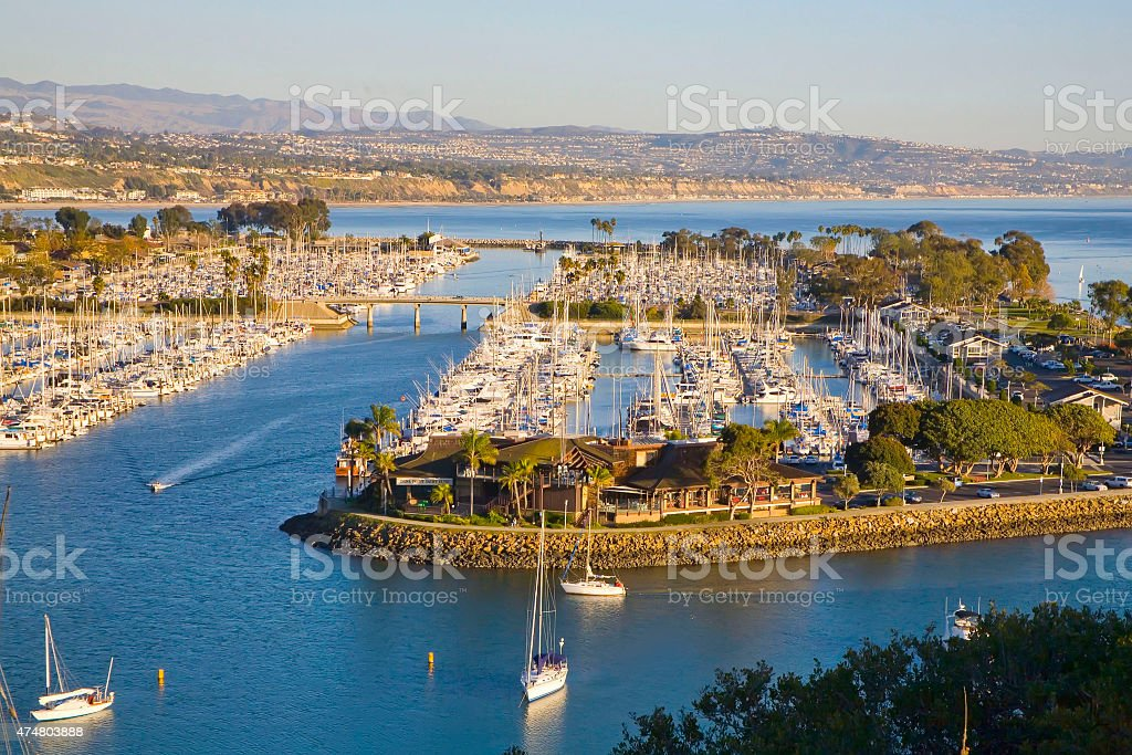 Dana Point Harbor Arial View From Hillside stock photo