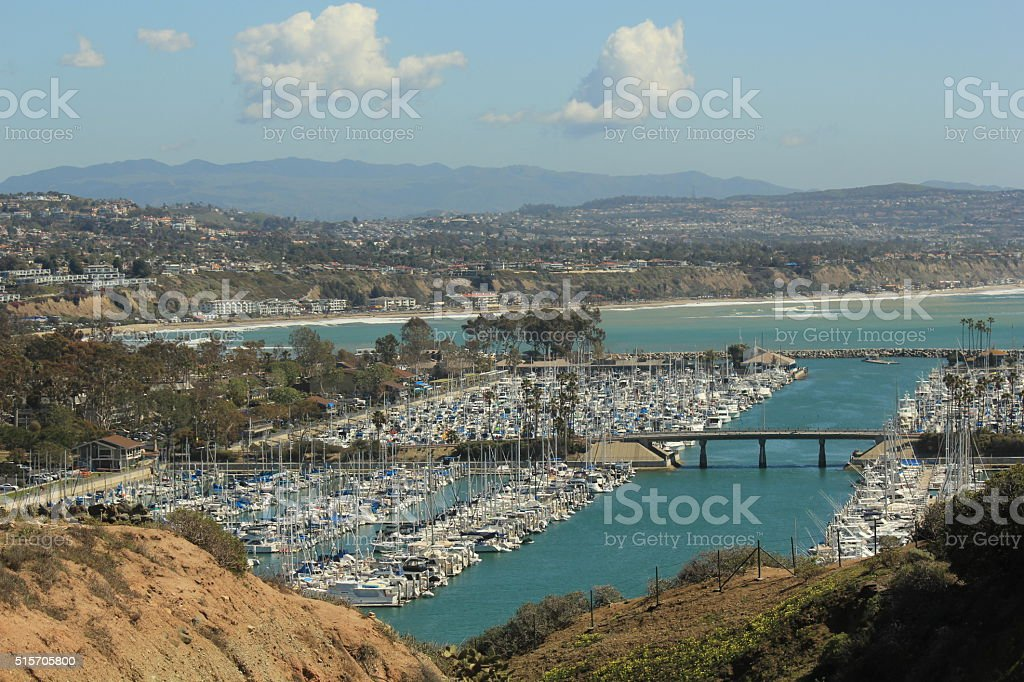 Dana Point Harbor on a clear day stock photo