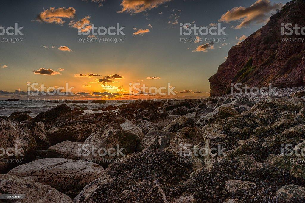 Dana Point, CA, USA- November 26, 2015: Dana Point Setting Sun stock photo