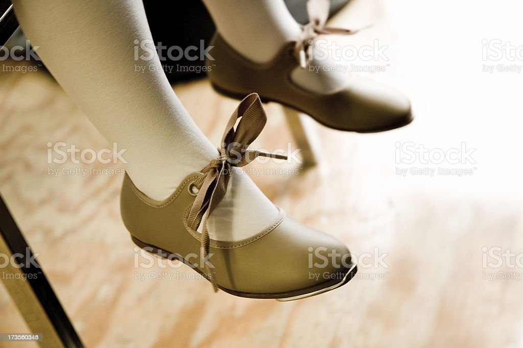 Dance Class Tap Shoes stock photo