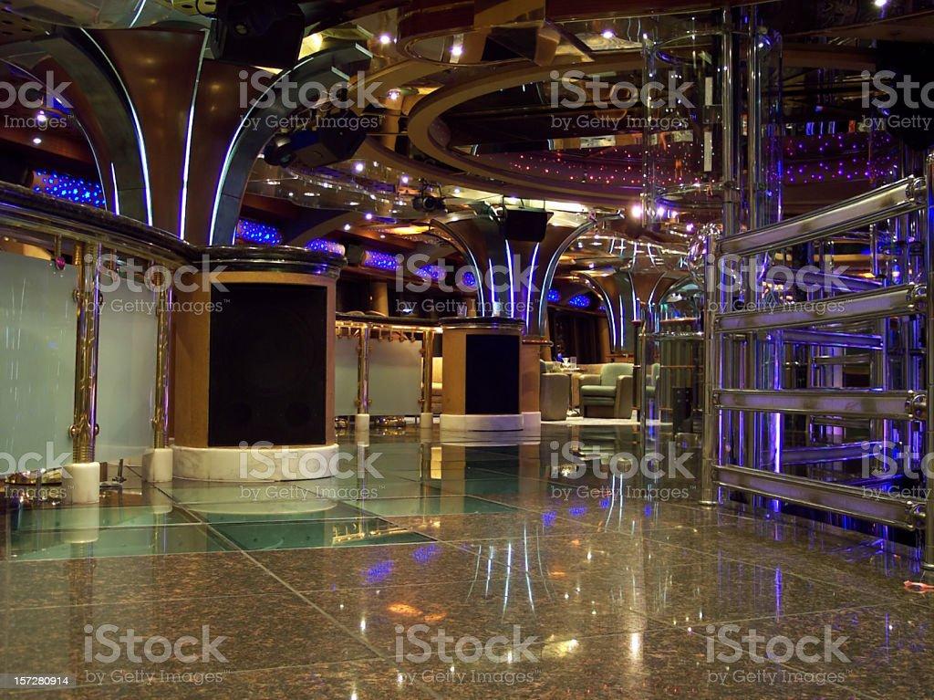 Dance Club Interior Floor stock photo