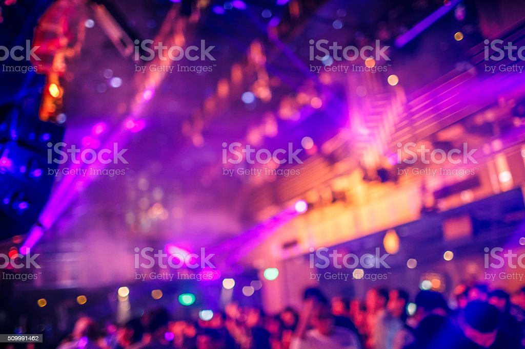 Dance club with lights backgrounds stock photo
