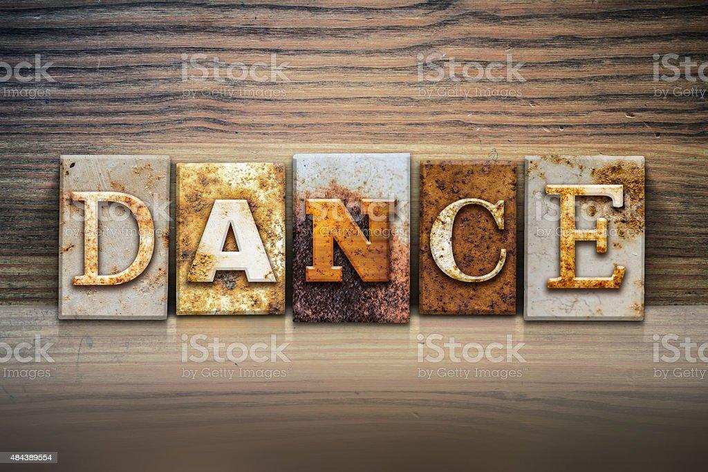 Dance Concept Letterpress Theme stock photo