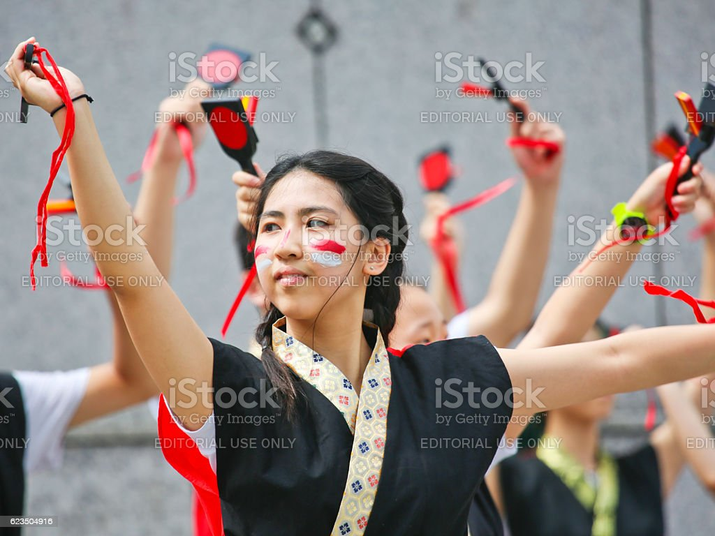 Dance Entertainment Festival Hama-Koi 2016 stock photo
