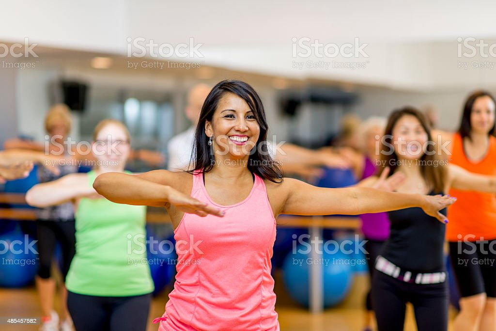 Dance Fitness Gym Class stock photo