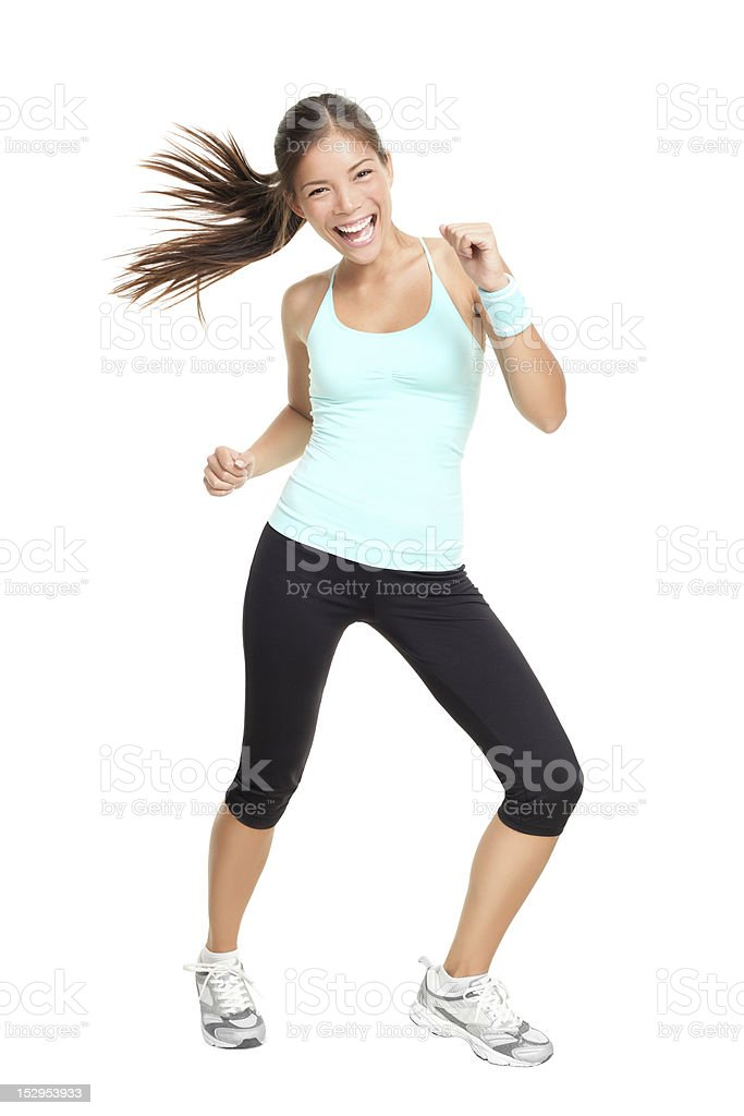 Dance fitness trainer woman dancing stock photo