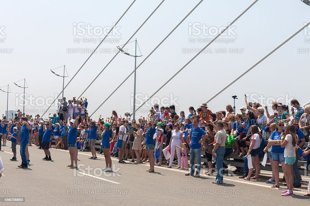 Dance Flash mob. stock photo