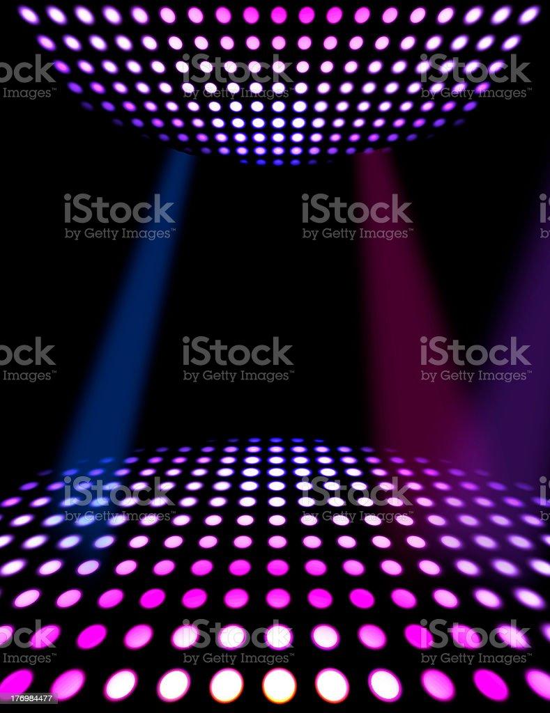 Dance floor disco poster background stock photo