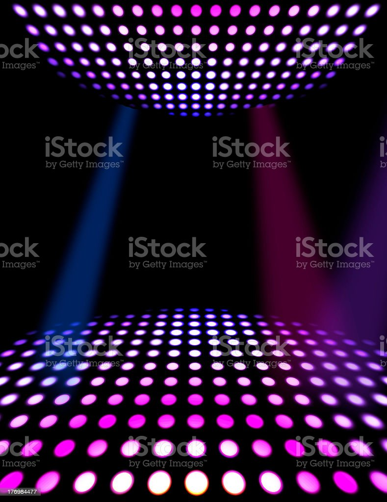 Dance floor disco poster background stock photo