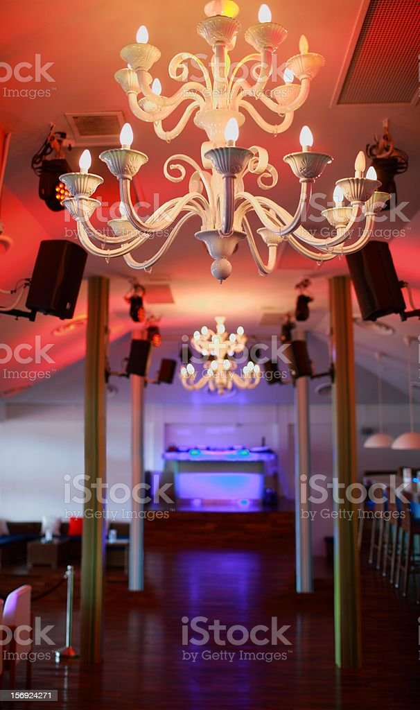 Dance floor, Mambo Beach Club in Sentosa Singapore stock photo