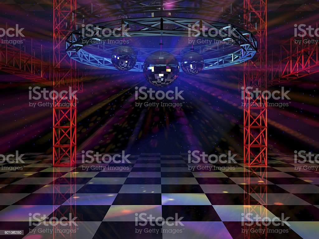 Dance floor stock photo
