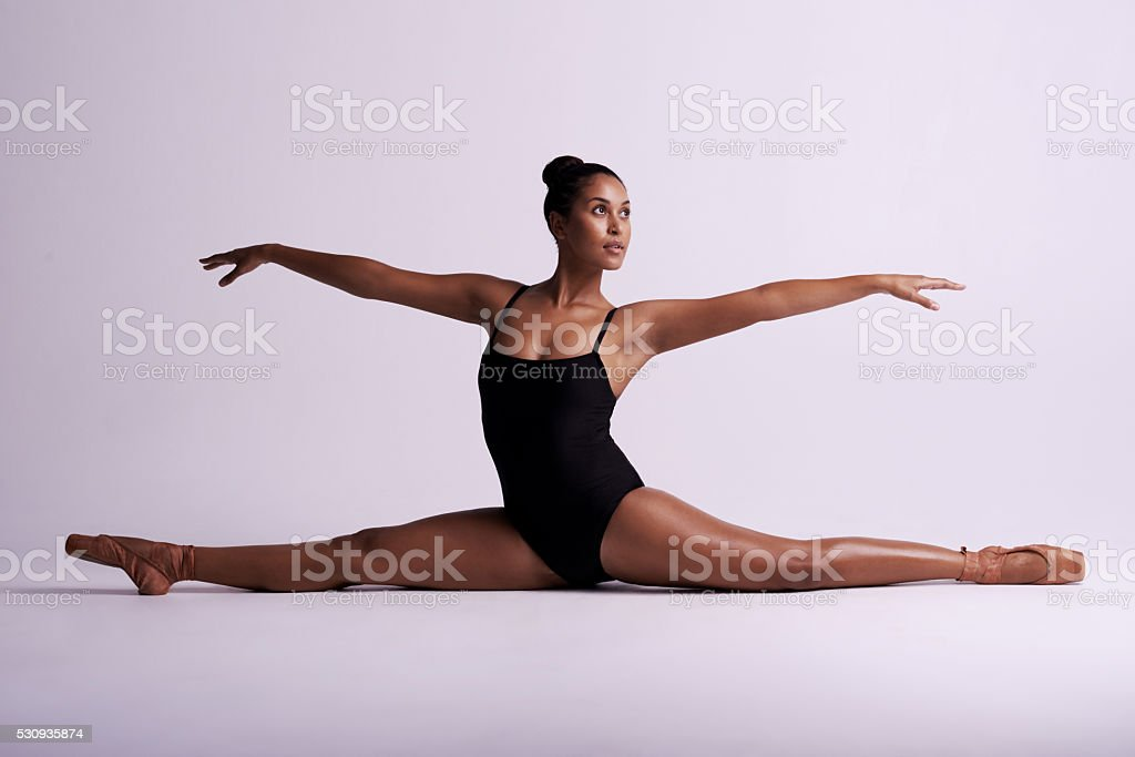 Dance is not a competition, its a passion stock photo
