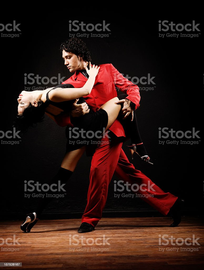 Dance of passion Tango royalty-free stock photo
