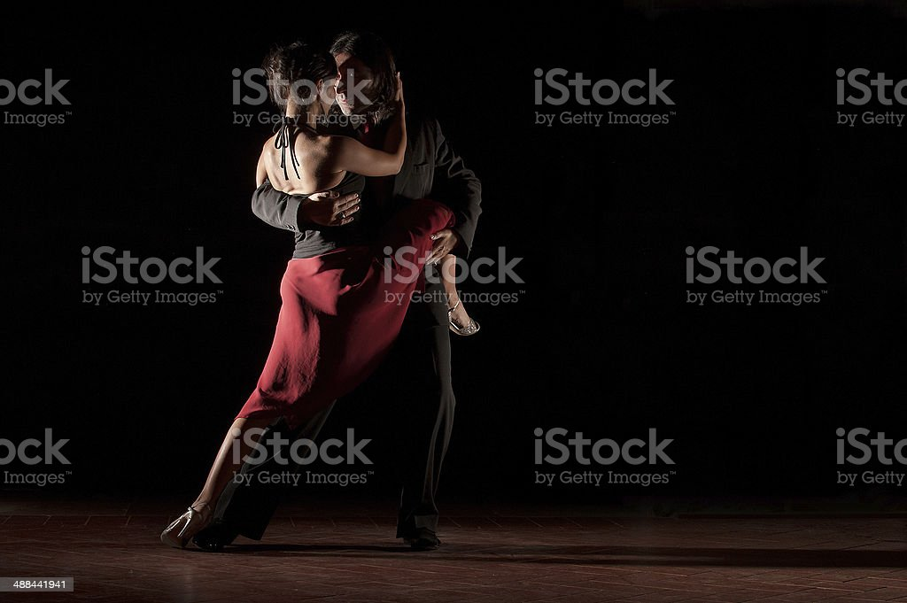 Dance of passion Tango stock photo