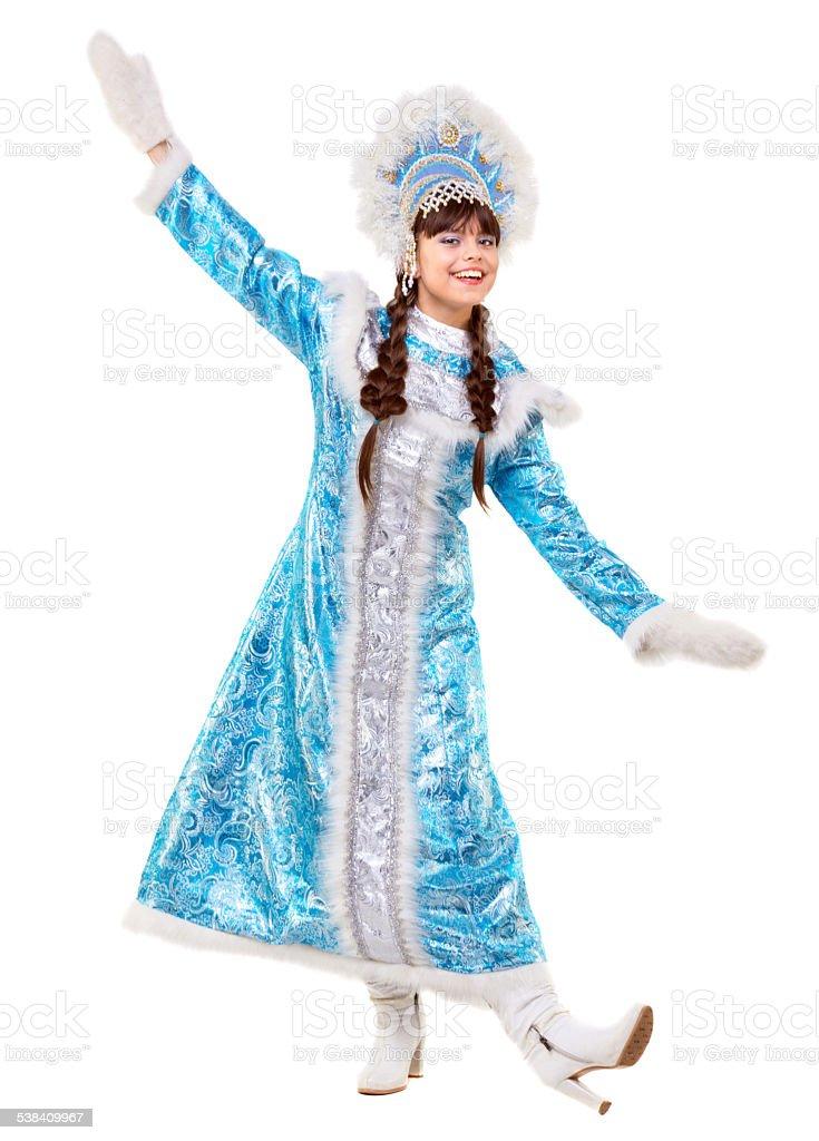 Dance of Snow Maiden stock photo