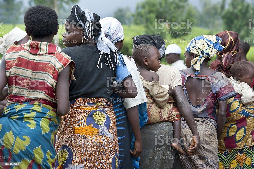 Dance of the Twa Pygmies, East Kivu, Congo stock photo
