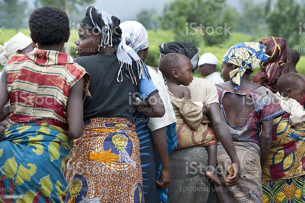 Dance of the Twa Pygmies, East Kivu, Congo stock photo
