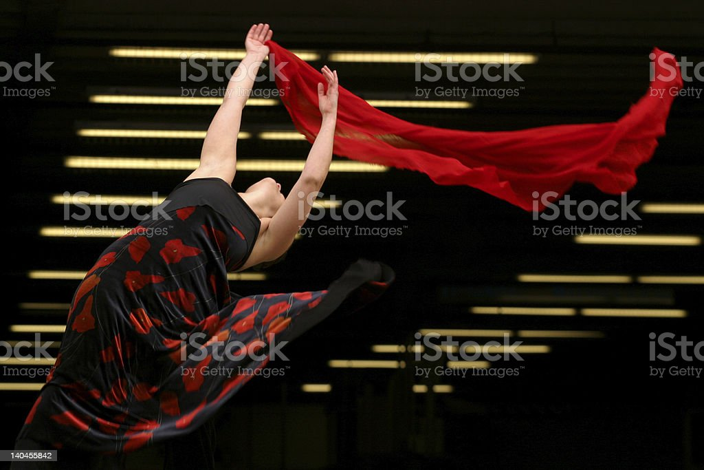 Dance With Red royalty-free stock photo