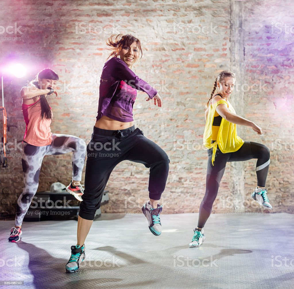 dance workout stock photo