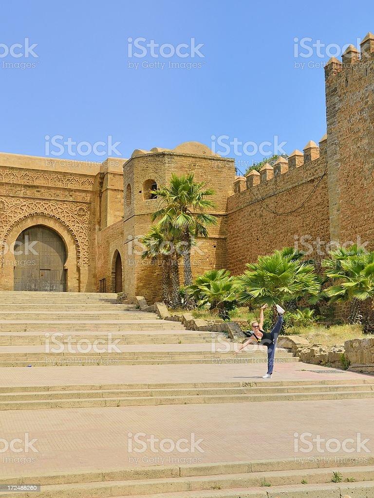 Dancer At Chellah In Rabat stock photo