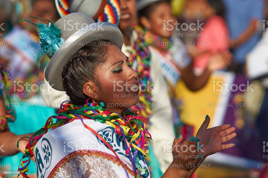 Dancer at the Arica Carnival stock photo