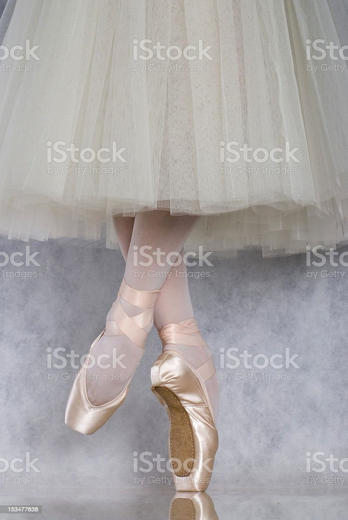 Dancer in ballet pointe royalty-free stock photo