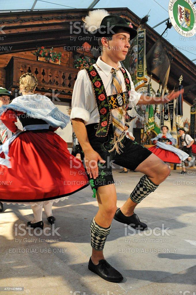 Dancer in Bavaria stock photo