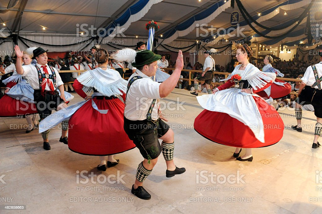 Dancer in Bavaria stock photo