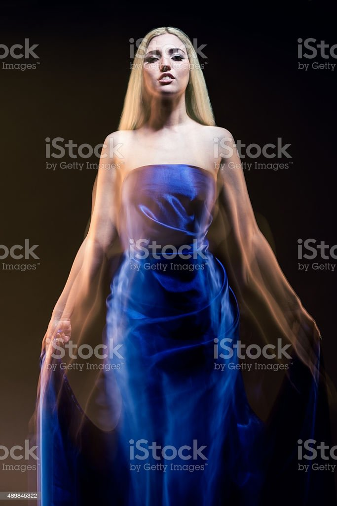 Dancer in blue stock photo