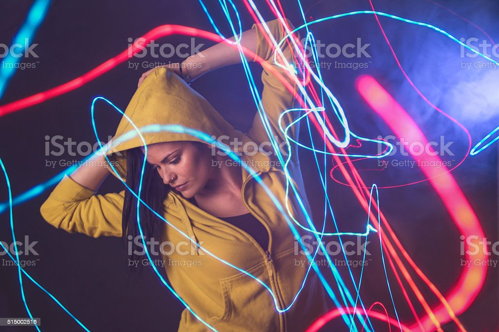 Dancer in motion stock photo