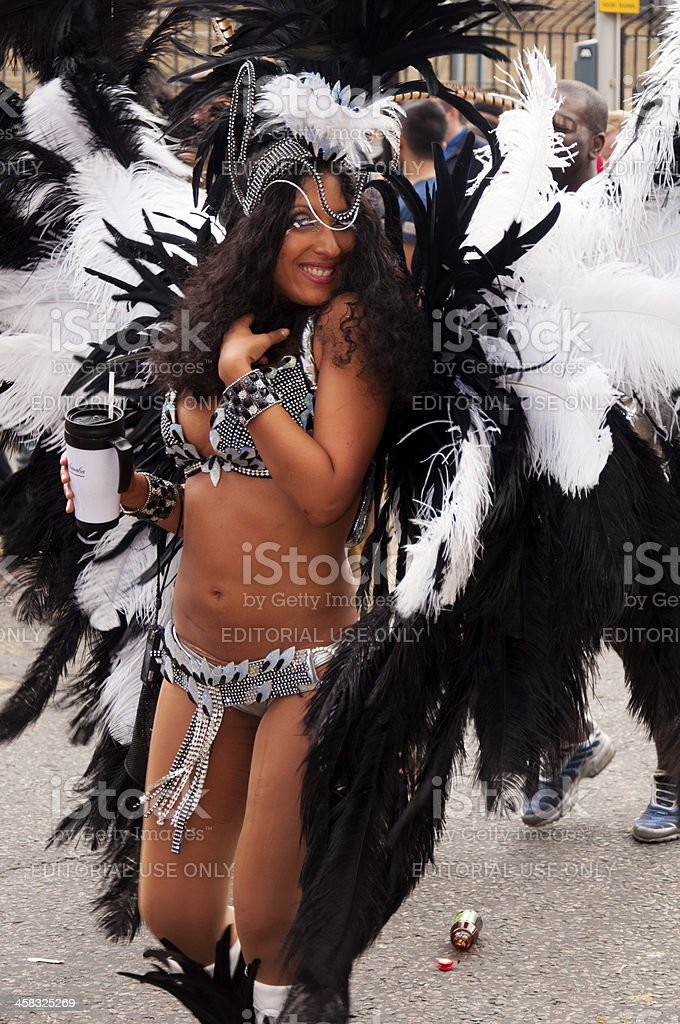 Dancer in Notting hill carnival 2012 stock photo