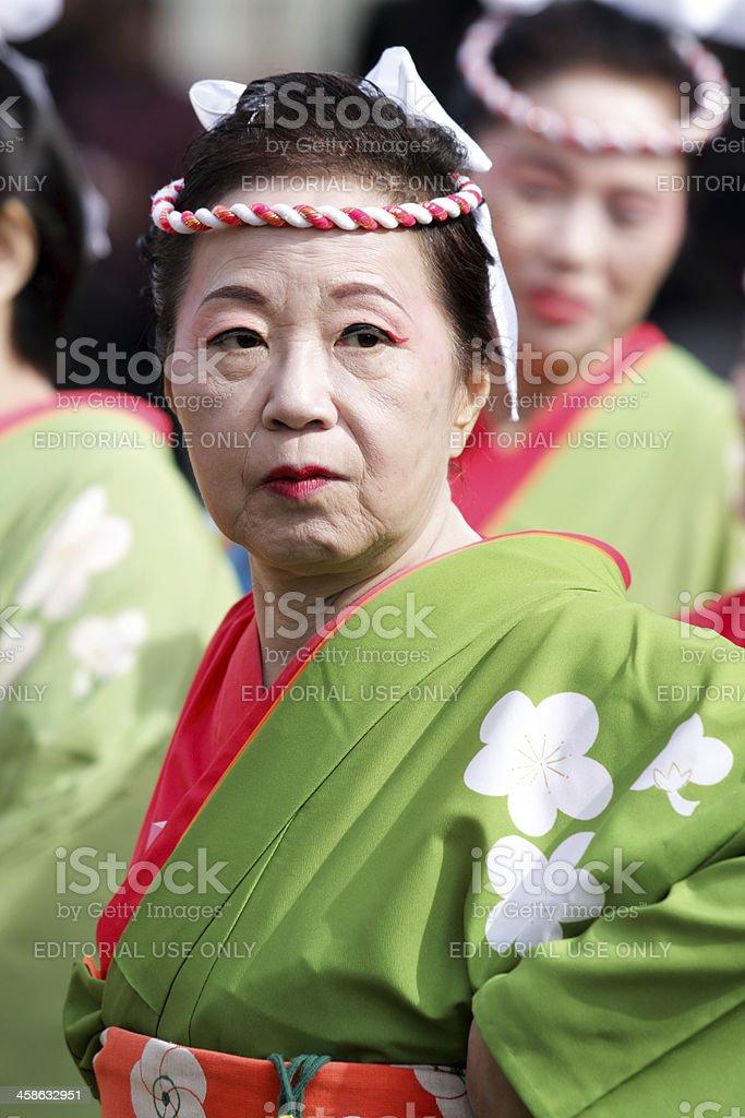 Tänzer in Ohara Matsuri festival Lizenzfreies stock-foto