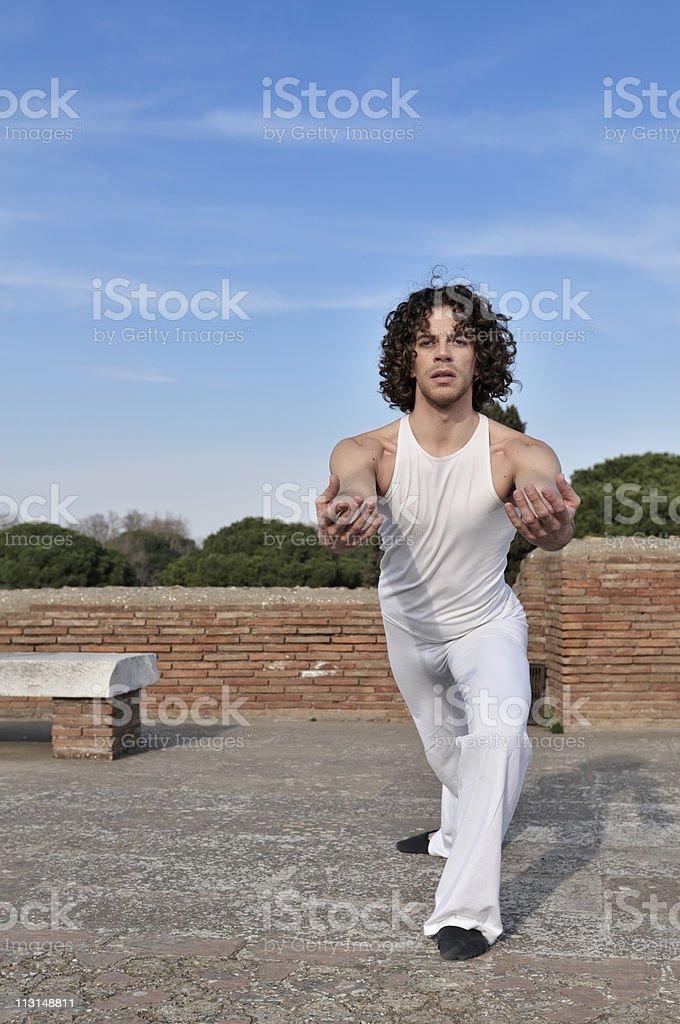 Dancer in pose stock photo