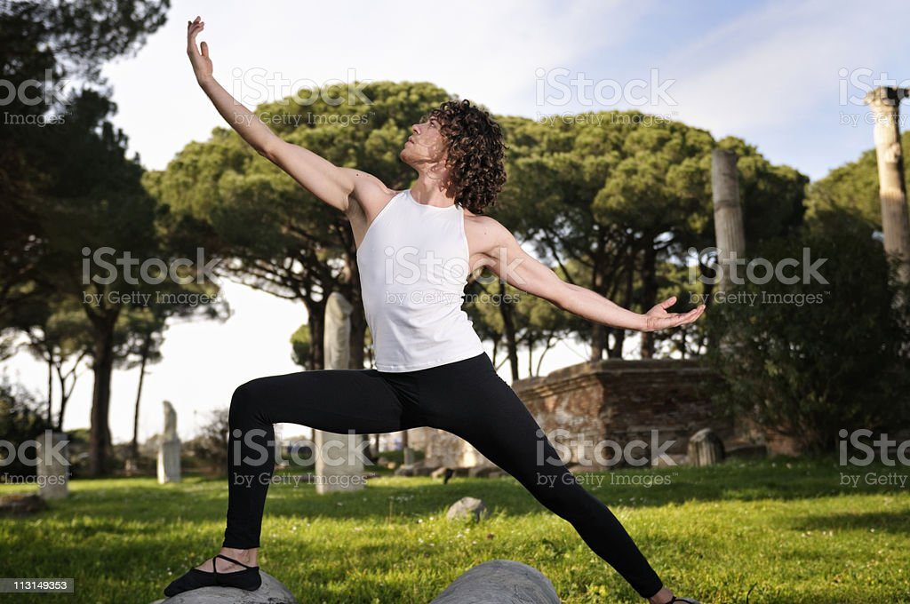 Dancer in the ancient theater. royalty-free stock photo