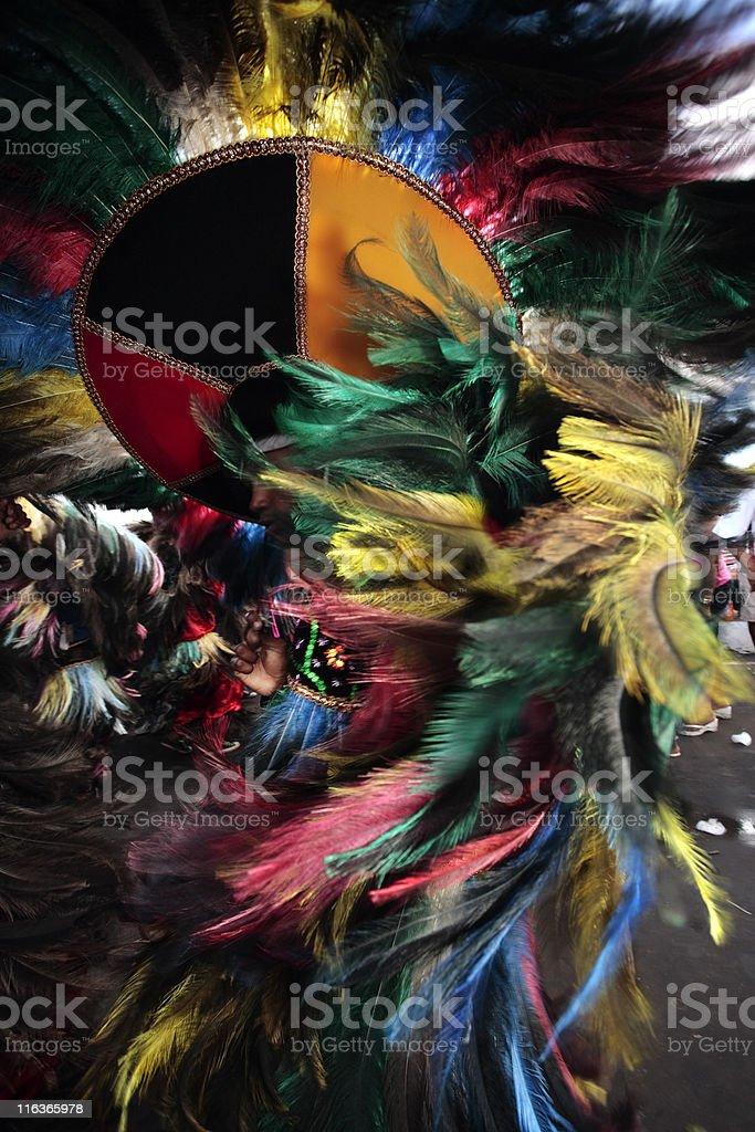 Dancer in the Brazilian Bumba meu boi festival stock photo