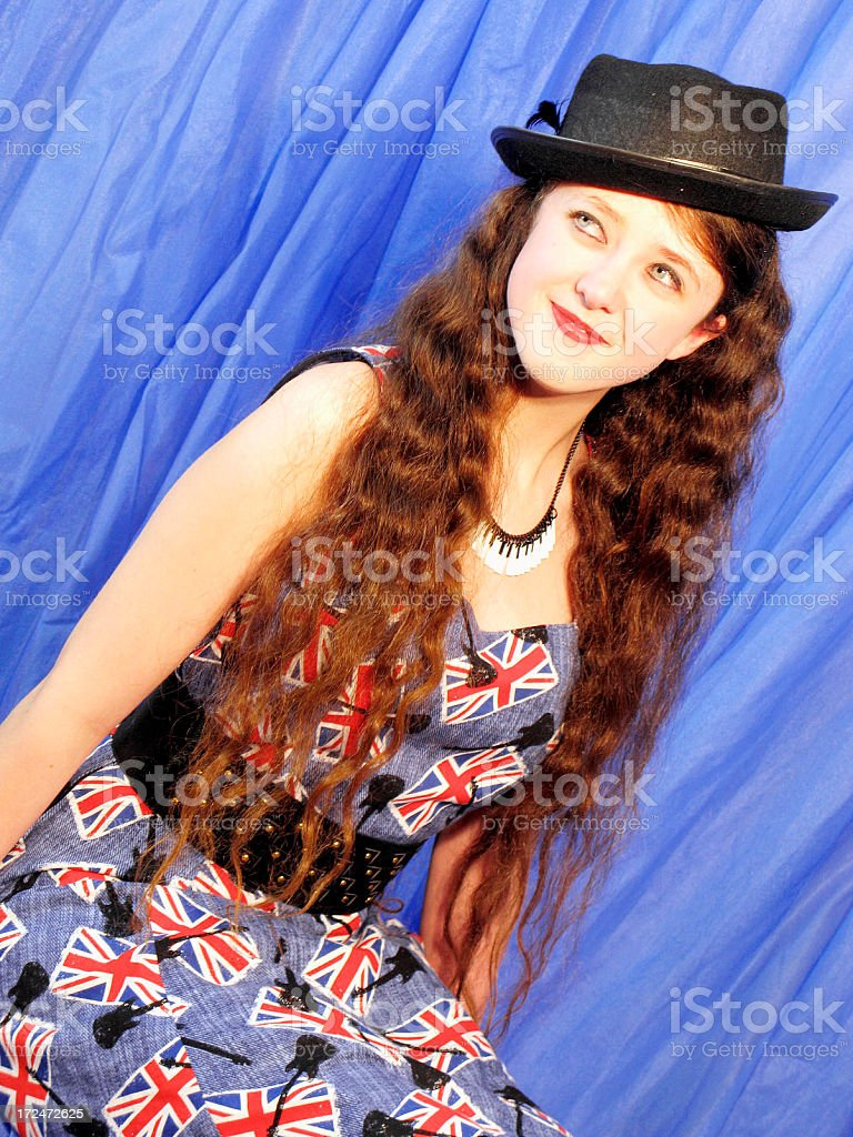 Dancer In Trilby Hat stock photo