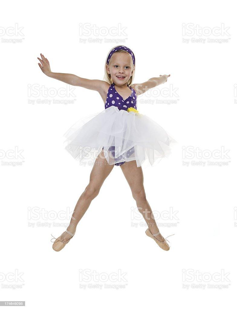 Tänzer springen Lizenzfreies stock-foto