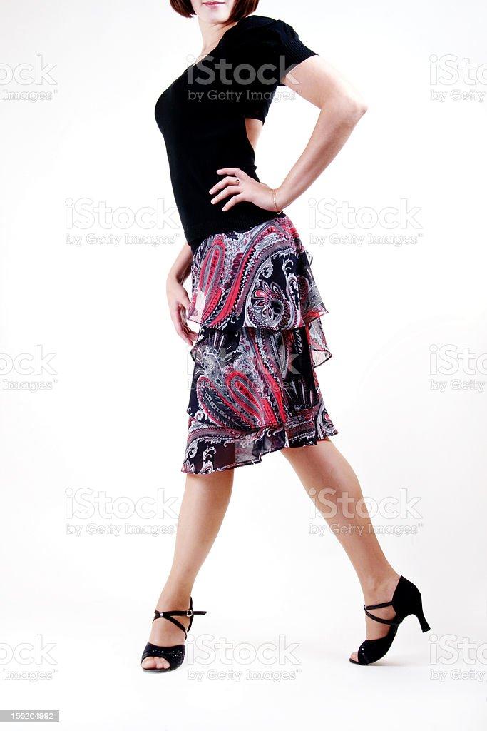 Dancer legs royalty-free stock photo